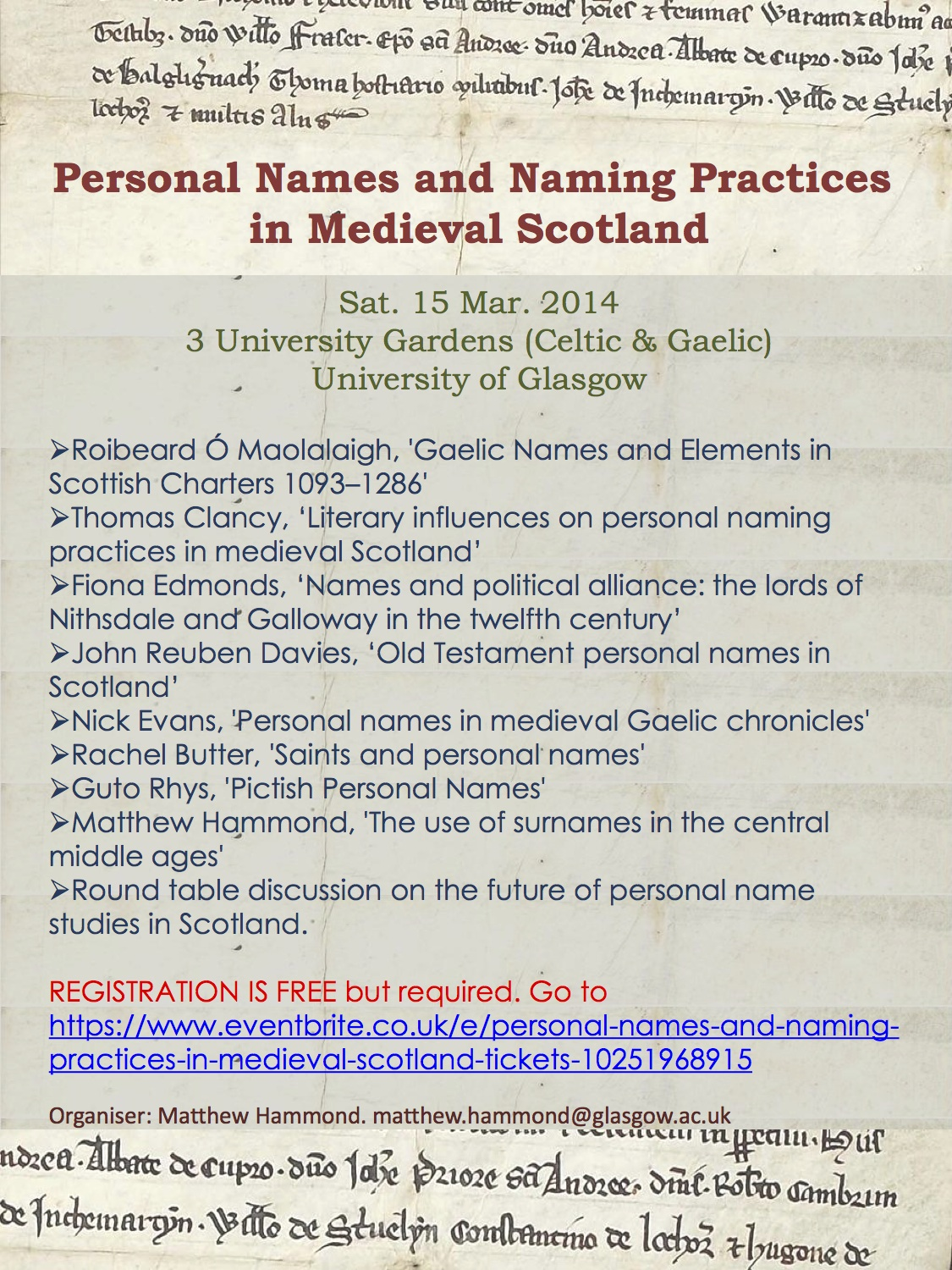 Personal Names Conference poster copy
